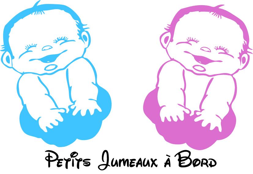 Les Bébés Filles Jumeaux : Stickers bébé jumeaux à bord les enfants destock