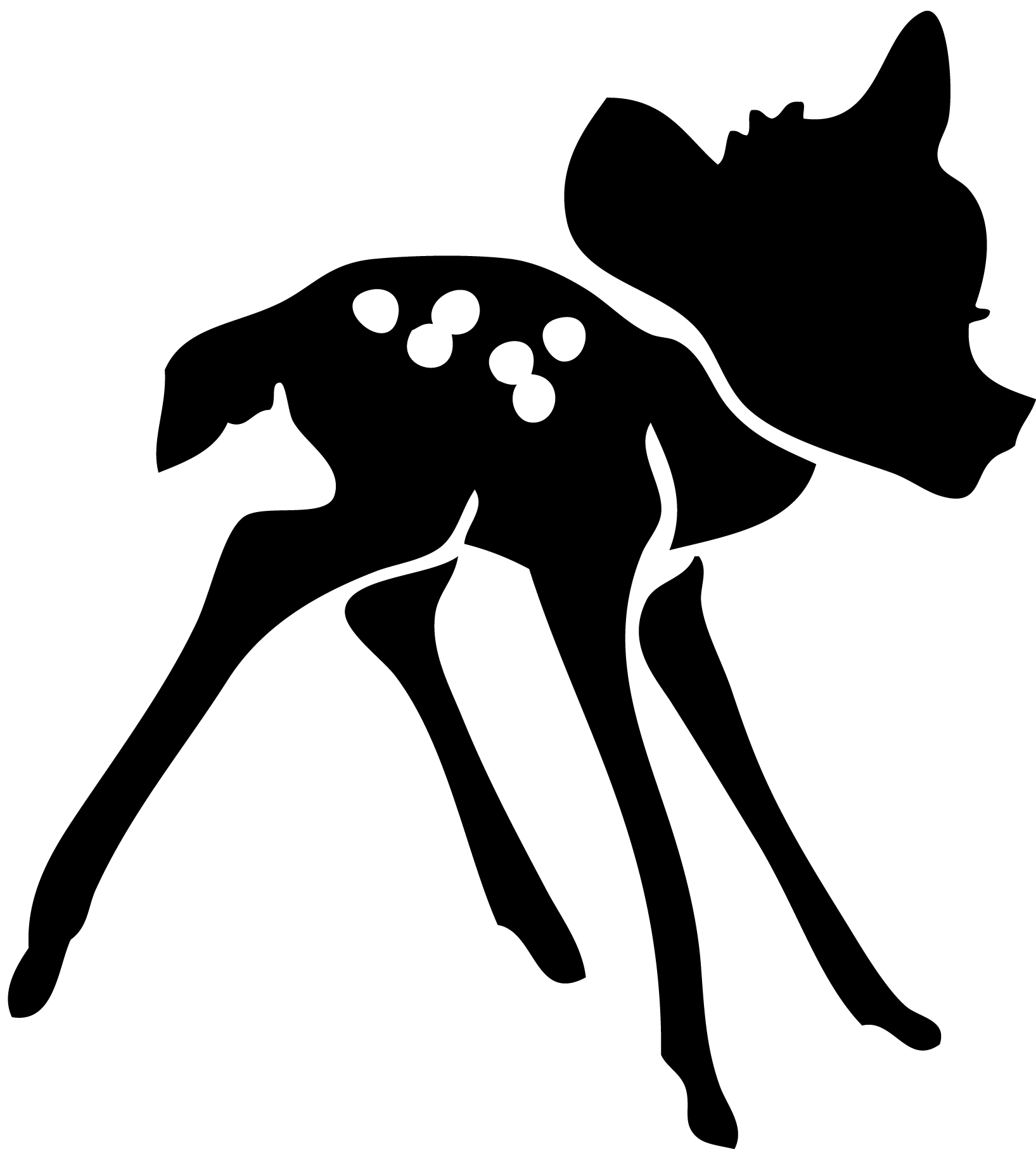 Stickers Bambi chambre enfant STICKERS SILHOUETTE Destock Stickers