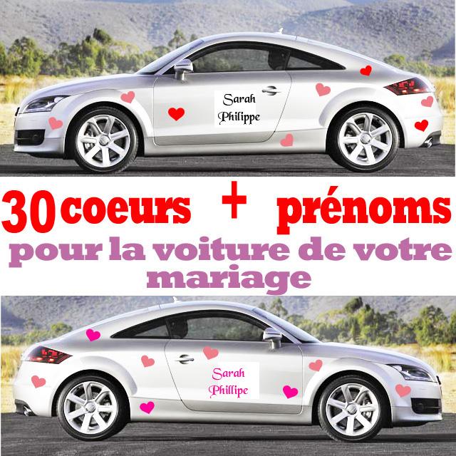 decoration voiture mariage stickers