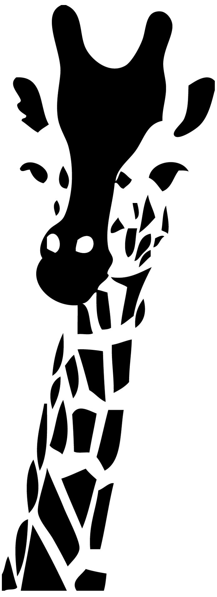 stickers t te de girafe animaux sauvage destock stickers. Black Bedroom Furniture Sets. Home Design Ideas