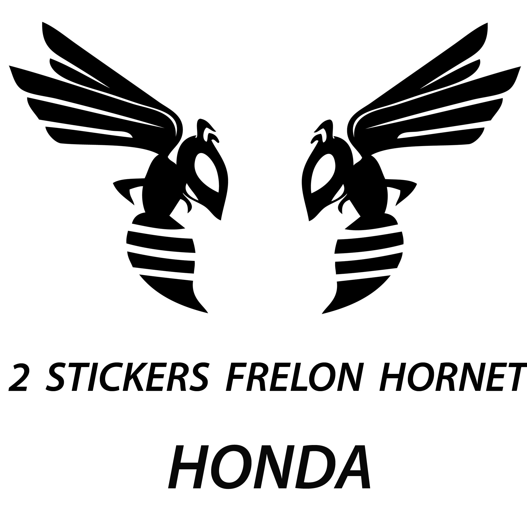 stickers autocollant tuning moto 2 frelons hornet honda tuning moto destock stickers. Black Bedroom Furniture Sets. Home Design Ideas