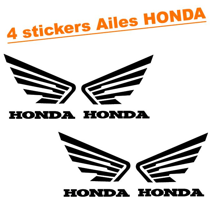 4 stickers autocollant ailes honda tuning moto destock stickers. Black Bedroom Furniture Sets. Home Design Ideas