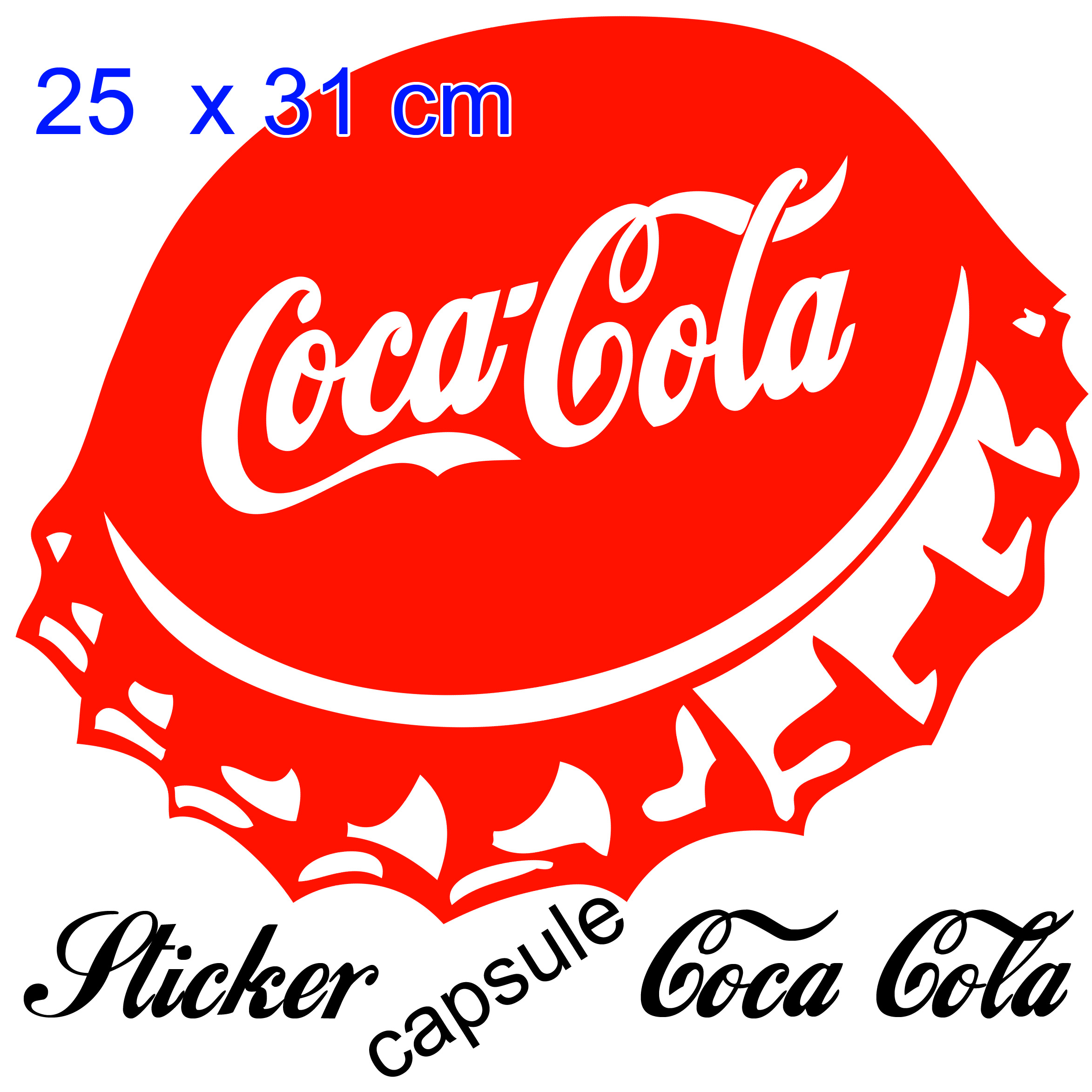 stickers autocollant coca cola capsule pour d co cuisine snack restaurant deco cuisine. Black Bedroom Furniture Sets. Home Design Ideas