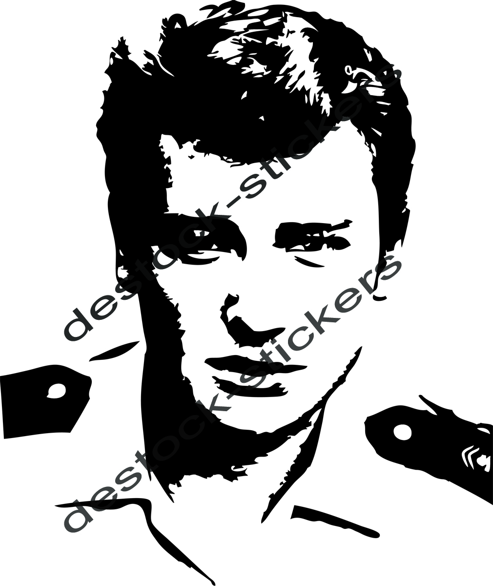 Stickers Johnny Hallyday Militaire Musique Chanteurs Groupes