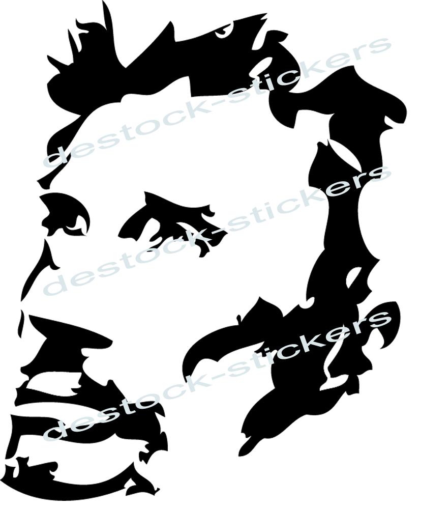 Stickers Johnny Hallyday En Negatif Musique Chanteurs Groupes