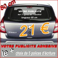 Stickers lettrage publicitaire marquage de véhicules