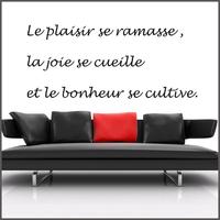 Stickers citation Le plaisir ....réf 022
