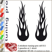 STICKERS TUNING FLAMING réf 011