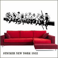 Sticker New York Construction building  Ouvriers sur la poutre 1932