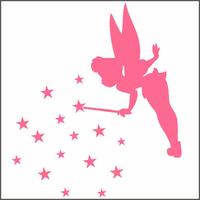 Sticker Fée Clochette aux étoiles