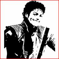 Stickers Mickael Jackson réf: 02