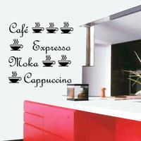 Stickers café moka capuccino tasses