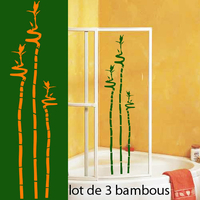 Stickers lot de 3 Bambous Lucky