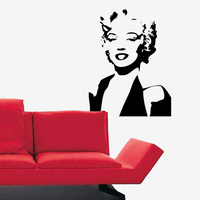Stickers buste de Marylin Monroe