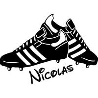 Stickers autocollant chaussures de foot personnalisé