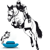 sticker cavalier et cheval