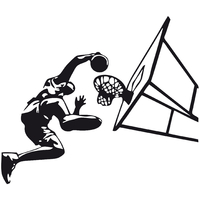 stickers basketteur et panier