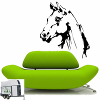 Stickers autocollant Tête de cheval Géante réf 22