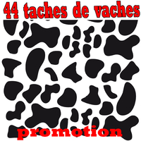 Stickers déco 44 taches de vaches