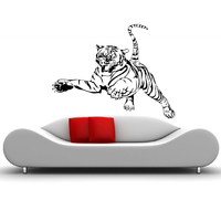 Stickers tigre bondissant