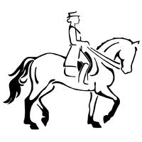 Stickers cheval dressage réf 02