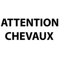 Stickers texte ATTENTION CHEVAUX