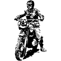 Stickers motard cross 108