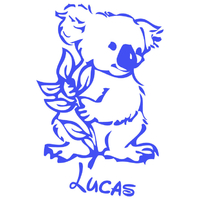 Stickers autocollant KOALA Personnalisé