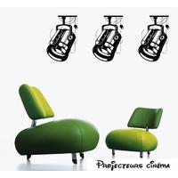 Stickers projecteurs de cinéma