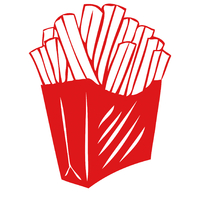 Stickers cornet de  frites