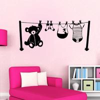 Sticker chambre d'enfant Fil à linge
