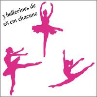 Stickers enfants 3 ballerines, danseuses