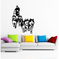 Sticker chiens de traineau husky