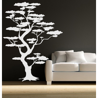 Sticker Arbre Nuages Japon