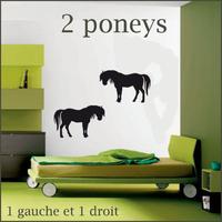Stickers lot de 2 poneys