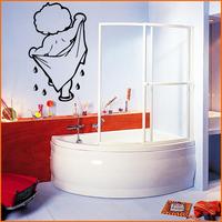 Stickers Salle de bain, enfant à la serviette