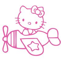 Stickers Hello Kitty en avion