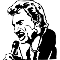 Stickers Johnny Hallyday au micro