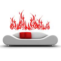 Stickers feu de bois flammes