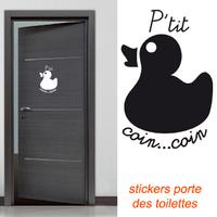 Stickers canard pour la porte des wc