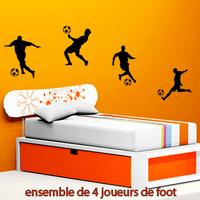 Stickers 4 joueurs de foot