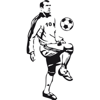 Sticker foot Zidane ref 03