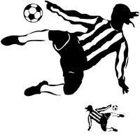 Sticker tir de Footballeur horizontal