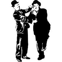 STICKERS Laurel et Hardy