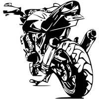 Stickers arrière moto 04