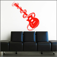Sticker guitare tourbillons