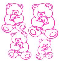 Stickers 4 oursons pour chambre d'enfants