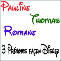 Stickers 3 prénoms ou mots façon disney
