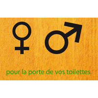 Stickers pour les toilettes WC Symboles H.F.