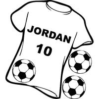 stickers maillot foot ou de rugby personnalisé